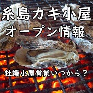 糸島のカキ小屋 2021年秋期オープン&開催期間(年末年始営業含む)まとめ~牡蠣小屋営業はいつから?にお答えします!